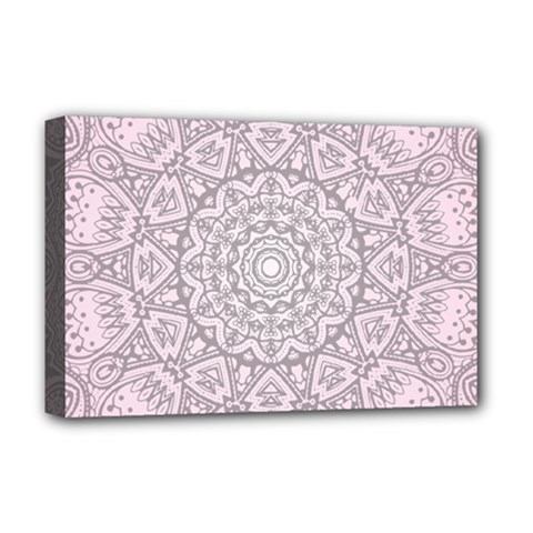 Pink Mandala art  Deluxe Canvas 18  x 12