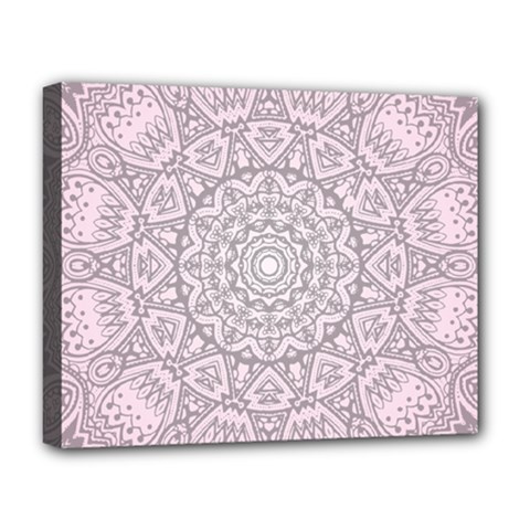 Pink Mandala art  Deluxe Canvas 20  x 16