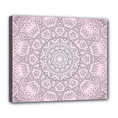 Pink Mandala art  Deluxe Canvas 24  x 20