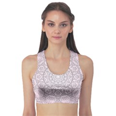 Pink Mandala art  Sports Bra