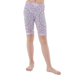 Pink Mandala art  Kids  Mid Length Swim Shorts