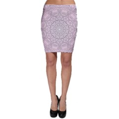 Pink Mandala art  Bodycon Skirt