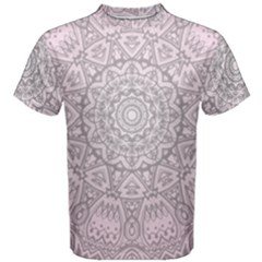 Pink Mandala art  Men s Cotton Tee