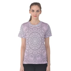 Pink Mandala art  Women s Cotton Tee