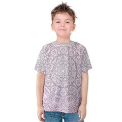 Pink Mandala art  Kids  Cotton Tee