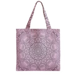Pink Mandala art  Grocery Tote Bag
