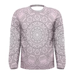 Pink Mandala art  Men s Long Sleeve Tee