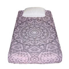 Pink Mandala art  Fitted Sheet (Single Size)