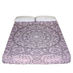 Pink Mandala art  Fitted Sheet (King Size)