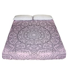 Pink Mandala art  Fitted Sheet (California King Size)