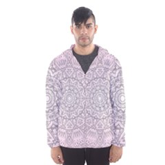 Pink Mandala art  Hooded Wind Breaker (Men)