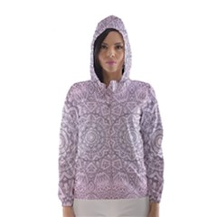 Pink Mandala art  Hooded Wind Breaker (Women)
