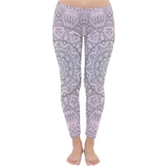 Pink Mandala art  Classic Winter Leggings