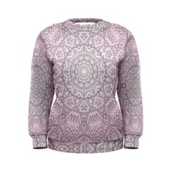 Pink Mandala art  Women s Sweatshirt