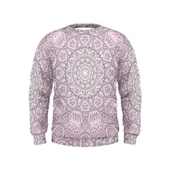 Pink Mandala art  Kids  Sweatshirt