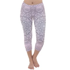 Pink Mandala art  Capri Winter Leggings