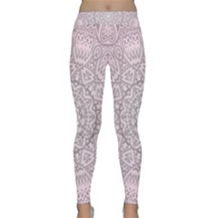 Pink Mandala art  Classic Yoga Leggings