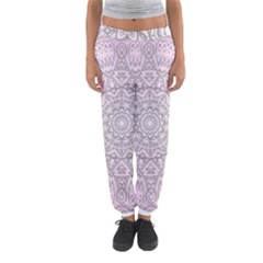 Pink Mandala art  Women s Jogger Sweatpants
