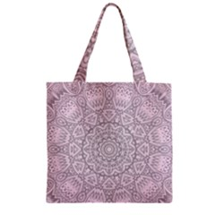 Pink Mandala art  Zipper Grocery Tote Bag