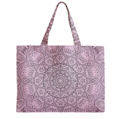 Pink Mandala art  Zipper Mini Tote Bag