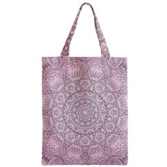 Pink Mandala art  Zipper Classic Tote Bag