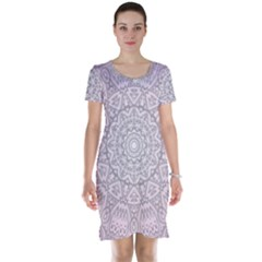 Pink Mandala art  Short Sleeve Nightdress
