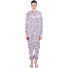 Pink Mandala art  Hooded Jumpsuit (Ladies)