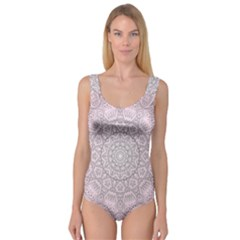 Pink Mandala art  Princess Tank Leotard