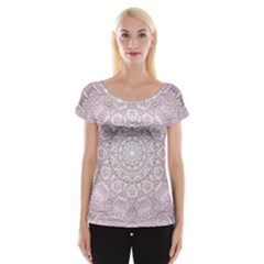 Pink Mandala art  Cap Sleeve Tops