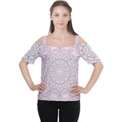 Pink Mandala art  Cutout Shoulder Tee