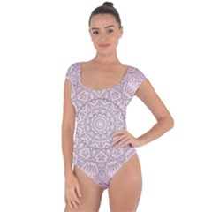 Pink Mandala art  Short Sleeve Leotard