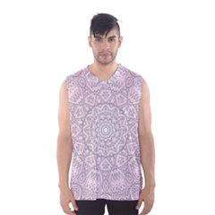 Pink Mandala art  Men s Basketball Tank Top