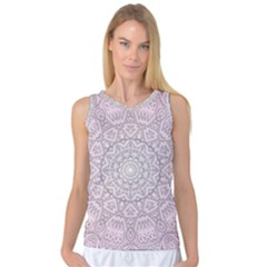 Pink Mandala art  Women s Basketball Tank Top