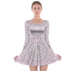 Pink Mandala art  Long Sleeve Skater Dress