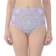 Pink Mandala art  High-Waist Bikini Bottoms