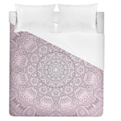 Pink Mandala art  Duvet Cover (Queen Size)