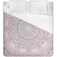 Pink Mandala art  Duvet Cover (King Size)