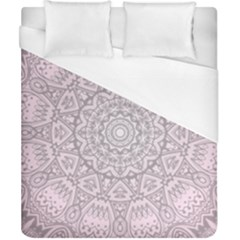 Pink Mandala art  Duvet Cover (California King Size)