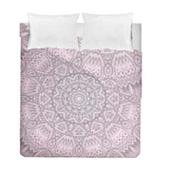 Pink Mandala Art  Duvet Cover Double Side (full/ Double Size) by paulaoliveiradesign