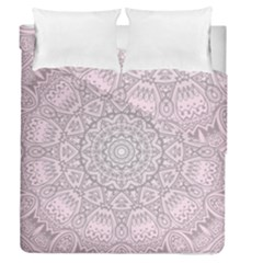 Pink Mandala Art  Duvet Cover Double Side (queen Size) by paulaoliveiradesign