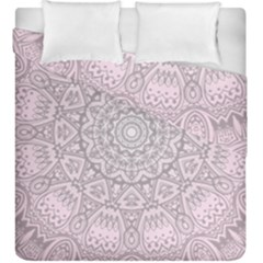 Pink Mandala Art  Duvet Cover Double Side (king Size) by paulaoliveiradesign
