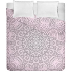 Pink Mandala Art  Duvet Cover Double Side (california King Size) by paulaoliveiradesign
