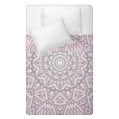 Pink Mandala Art  Duvet Cover Double Side (single Size) by paulaoliveiradesign