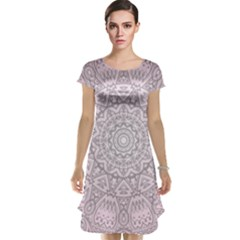 Pink Mandala art  Cap Sleeve Nightdress