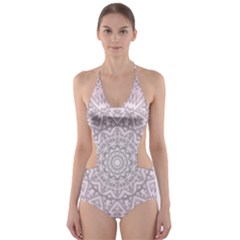 Pink Mandala art  Cut-Out One Piece Swimsuit