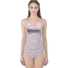 Pink Mandala art  One Piece Swimsuit