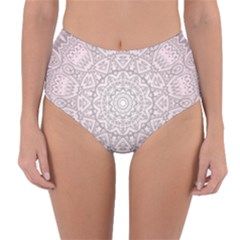 Pink Mandala art  Reversible High-Waist Bikini Bottoms