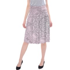 Pink Mandala art  Midi Beach Skirt