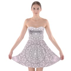 Pink Mandala art  Strapless Bra Top Dress