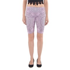 Pink Mandala art  Yoga Cropped Leggings